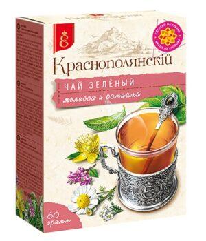 Чай зелёный с мелиссой и ромашкой Краснополянскiй  60 г. 49794