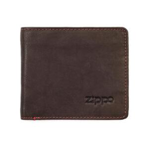 """Портмоне Zippo 2005118, цвет """"мокка"""", натуральная кожа"""