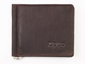 """Зажим для денег ZIPPO, цвет """"мокко"""", натуральная кожа"""