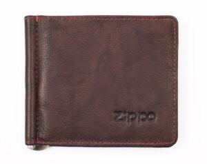 Зажим для денег ZIPPO, коричневый, натуральная кожа