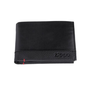 Портмоне Zippo с защитой от сканирования RFID 2006020, чёрное, натуральная кожа