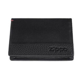Держатель для пластиковых карт ZIPPO с защитой от сканирования RFID 2006024, чёрная, натуральная кож