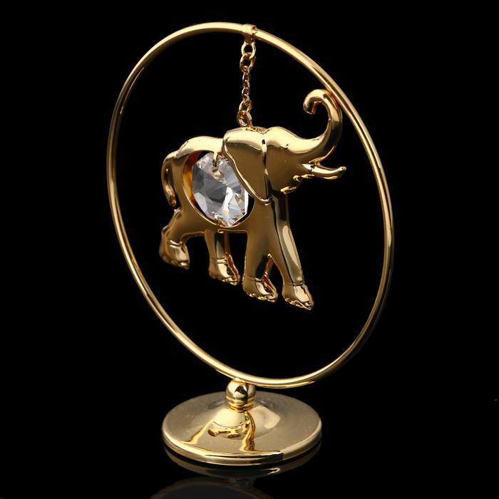 Слон в кольце с кристаллом Сваровски 55971
