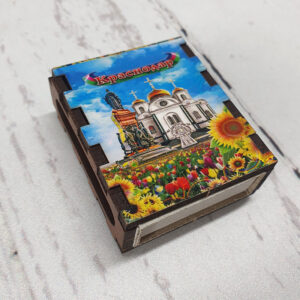 Магнит Спички Краснодар Екатерина 2 и собор А.Невского 52508