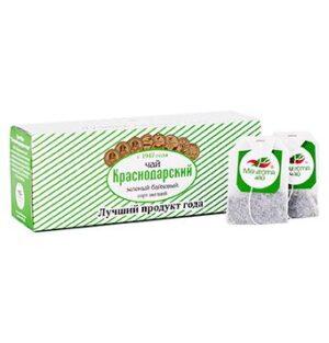 """Чай зеленый классический """"Отборный"""" 25 пакетиков Краснодарский 46675"""