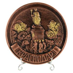 Тарелка Екатерина 2 (бронза) 22497