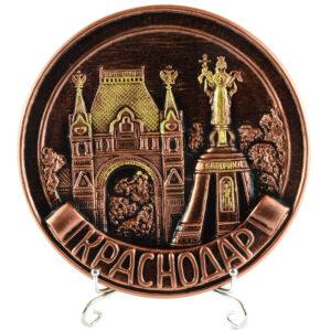Тарелка Екатерина Святая (бронза) 22499