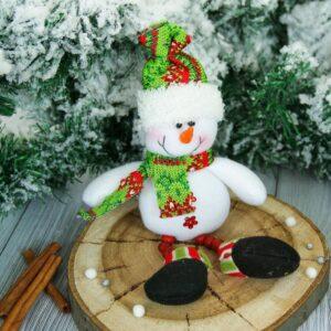 "Мягкая игрушка ""Снеговик"" ножки бусинки 47356"