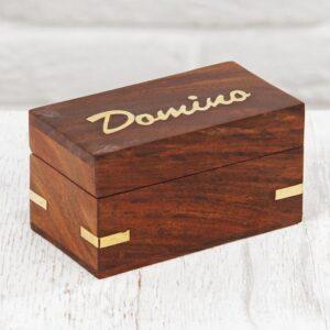 """Игра """"Домино"""" в деревянной шкатулке 57720"""
