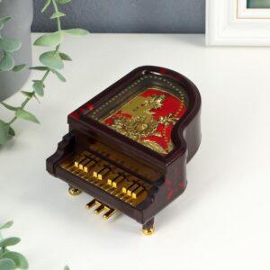 """Шкатулка музыкальная """"Рояль с золотистыми клавишами"""" 55236"""