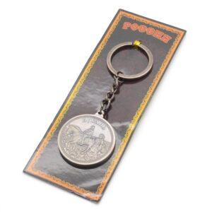 Брелок Кубань Казачка с Казаком на коне (монета) серебро 46947