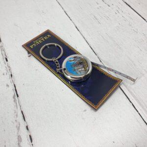 Брелок Рулетка 1 метр Краснодар (серебро) 52517
