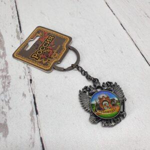 Брелок Краснодар Екатерина святая и Триумфальная арка Герб РФ (металл) 56361