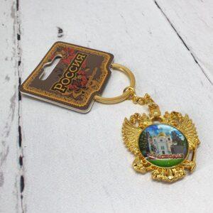 Брелок Краснодар Екатерина 2,собор А. Невского и Памятник Казачеству (золото) 56365
