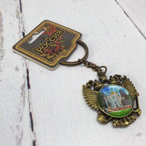 Брелок Краснодар Екатерина 2,собор А. Невского и Памятник Казачеству (бронза) 56363