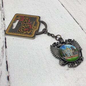 Брелок Краснодар Екатерина 2,собор А. Невского и Памятник Казачеству (металл) 56362