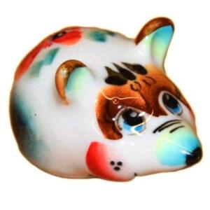 Мышь цветная гжель 5 см 50542