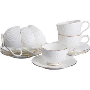 Кофейный набор на 6 персон 12 предметов 100 мл. 33123