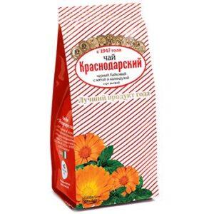 Чай черный байховый с календулой и мятой 100 г. Краснодарский 46684