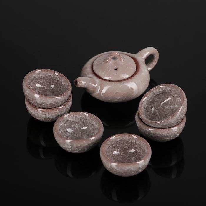Набор для чайной церемонии «Лунный камень», 7 предметов: чайник 150 мл, 6 пиал 50 мл 57264