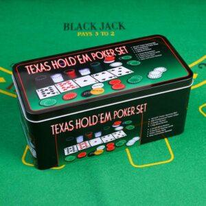Покер, набор для игры (карты 2 колоды, фишки 200 шт с/номин, сукно 60х90 см) микс 52166