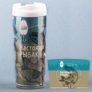 "Термостакан ""Настоящий рыбак"", 350 мл 47373"