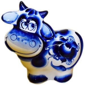 Корова роспись гжель 11.5 см 53868