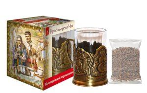 Подстаканник с Краснодарским чаем черный листовой 30г (подарочный набор) 49803