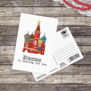 Почтовая карточка Russia is waiting, 10 × 15 см 48466