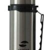 Термос Stinger, 0,75 л, широкий с ручкой, сталь, серебристый, чёрные вставки 52899