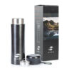 Термокружка Stinger, 0,42 л, сталь/пластик, чёрный матовый, с ситечком 52902 83909