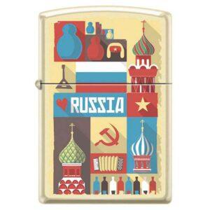 Зажигалка Zippo (зиппо) №216 RUSSIAN POSTCARD