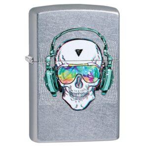 Зажигалка Zippo (зиппо) №29855 Skull Headphone Design