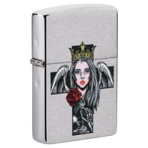 Зажигалка Zippo (зиппо) №49262 Cross, Queen and Skull Design