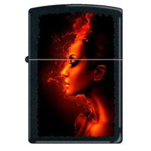 Зажигалка Zippo (зиппо) №218 BURNING WOMAN Девушка-огонь