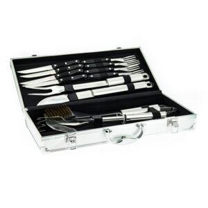 Набор для барбекю: 4 вилки, 4 ножа, моющая щётка, щипцы, вилка, нож, шпатель 54618