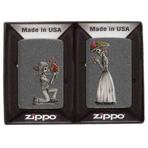 Набор Зажигалок Zippo №28987 Влюбленные зомби Iron Stone™