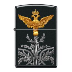 Зажигалка Zippo (зиппо) №218 RUSSIAN COAT OF ARMS  Двуглавый орёл