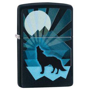Зажигалка Zippo (зиппо) №29864 Wolf and Moon Design