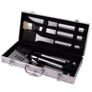 """Набор для барбекю """"GRUN GRAS"""": щётка, силиконов. моющая щётка, нож, щипцы, вилка, шпатель 54619"""