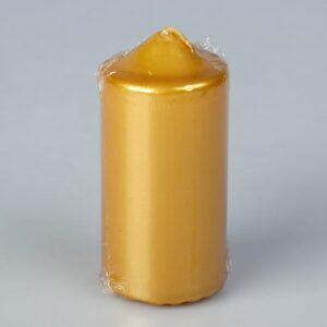 Свеча бочонок, золотая 45063