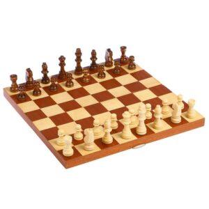 Шахматы деревянные, клетка 3.5 см, (фигуры от 2.5 см до 5.5 см), поле без краёв 52196