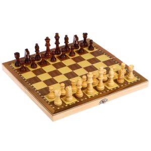 Шахматы деревянные, клетка 3 см, фигуры от 3 см до 6.5 см 52197
