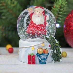 "Водяной шар со снегом ""Привет, Дед Мороз"" 53892"