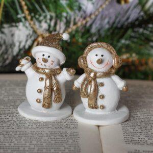 Снеговичок с золотым шарфиком 47415