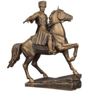 Скульптура Кубанский казак на коне средняя 25 см 51925