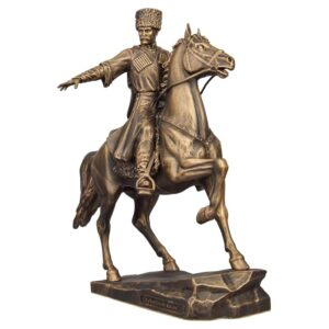 Статуэтка Кубанский казак на коне малая 15 см 51926