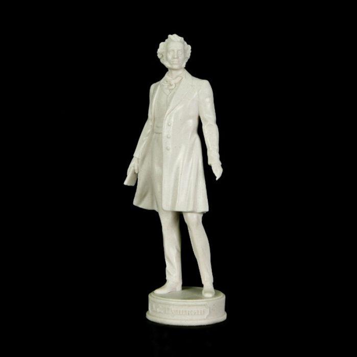 Скульптура А.С. Пушкин малая 20см белый мрамор 52515