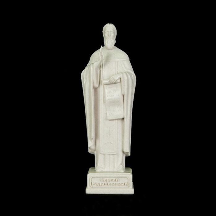 Скульптура Сергей Радонежский малая белый мрамор 52502