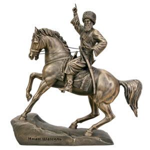 Скульптура Статуэтка Имам Шамиль на коне малая 16 см 52530